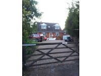 EQUESTRIAN PROPERTY FOR SALE or RENT DETACHED 4/5 bed HOUSE plus 1 bed annex ideal location