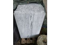 Granite Paving Stones (Nero Stantiago, Flamed & Brushed) - 17 x 60cm x 40cm & 3 x 60cm x various