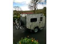 Caravan camping pod