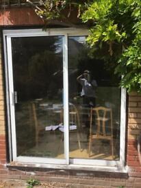 Aluminium/white patio doors