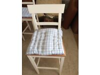 Excellent condition John Lewis kitchen bar stools with removable cushions.