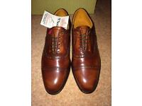 Brand new Grenson welted brogue shoes in brown, size 8.5