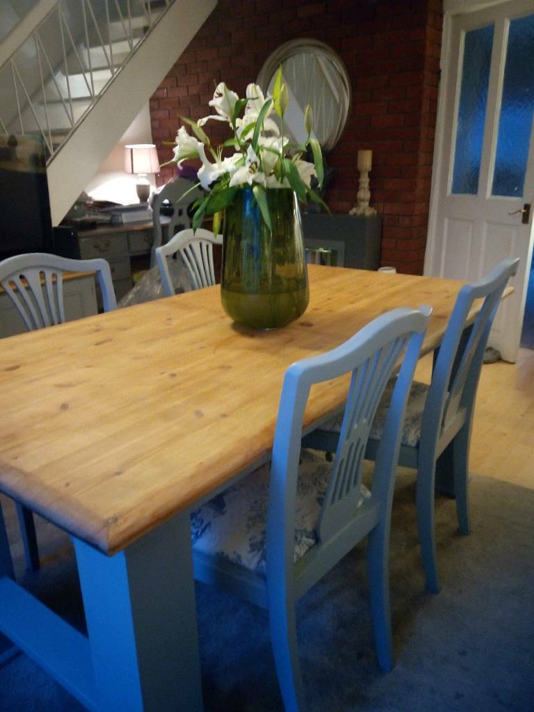 Rustic Farmhouse Dining Table Chairs
