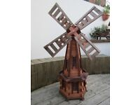 brand new wooden windmill for garden