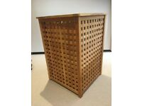 Large wooden lattice style laundry basket - excellent condition