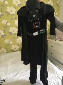Darth Vader kids costume size 5-6