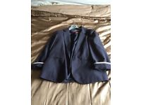 Wallis Navy spotty jacket size 14 good condition