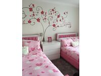 2 4ft beds in pink