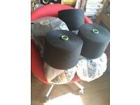 Job lot Black Cotton Machine Knitting Yarns 7 cones 2.3 kg each