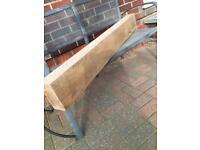 Solid oak wood beam