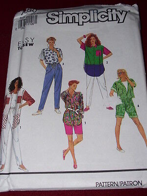 SIMPLICITY #7180 - LADIES CASUAL TWO LENGTH SHIRT-PANTS & SHORTS PATTERN 6-24 FF, used for sale  Shipping to India