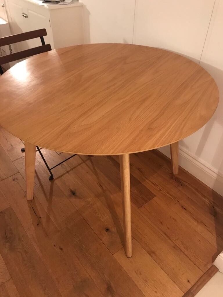 Round Dining Table Scandinavian Style Homebase Branded Excellent Condition In Paddington London Gumtree
