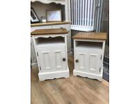 Solid pine side cabinets/ bedside tables units