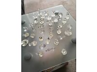 36 Viennese Crystal miniatures + glass backed Cabinet