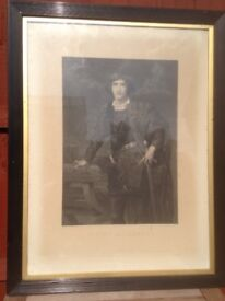 Antique Print Irving as Hamlet
