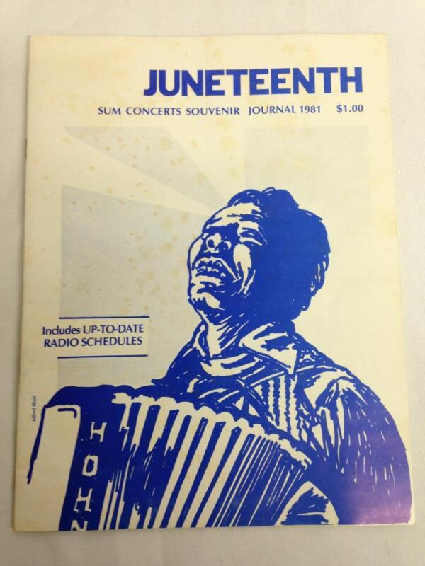 1981 HOUSTON JUNETEENTH BLUES FESTIVAL Program, Lightin