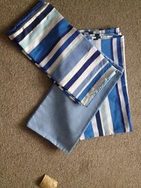 Blue striped double duvet set