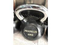 32kg kettlebell last one only £1 per kilo rubber and chrome new weights equipment fitness gym