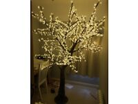 2 metre white blossom LED tree - only used once- £300 ONO