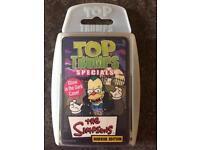The Simpsons Top Trump Cards