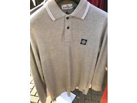Stone island imported long sleeve polo shirts wholesale clearance
