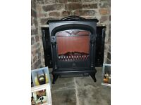 NETTA Electric Fireplace Stove Heater with Log Wood Burner Effect - 2000W. 1 year old.