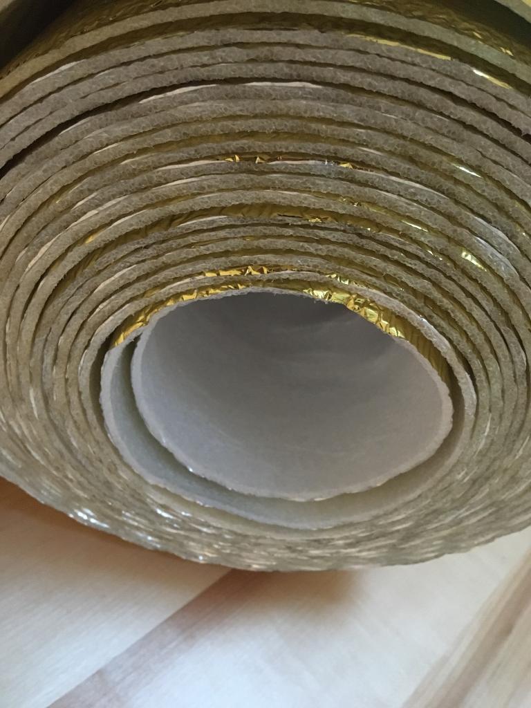 Foam foil acoustic flooring underlay