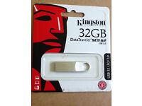Genuine Kingston 32GB DataTraveler SE9 USB 3.0 Flash Drive Memory Stick DTSE9 G2(Min. Order 5pcs)