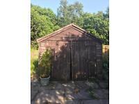 Free wooden garage