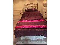 Single bed and headboard x 2