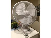 White Desk Electric Fan - 12 Inch