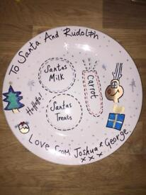 Santa Christmas Eve plates for sale