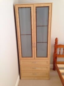 wardrobe and bed side unit for sale