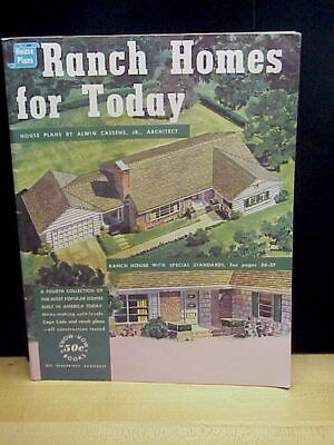 Vintage Ranch Homes For Today House Plans By Alwin Cassens Jr. Booklet 1956