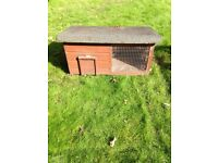 Old outdoor rabbit hutch