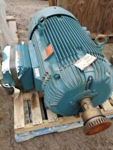 Reliance Electric, 100 HP, 3 Phase, 575 Volts Electric Motor, 505 RPM