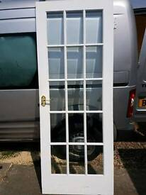 Glazed white door