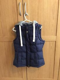 Navy hooded gilet from George size 8