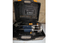 """Woodworking Plunge Router with 1/2"""" chuck with router bits"""
