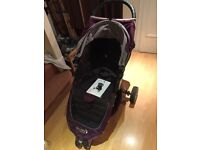 Baby Jogger City mini single pushchair purple