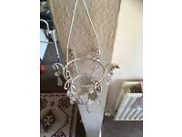 Hanging candle holder lamp