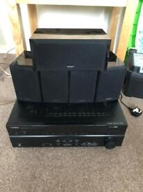 Yamaha RX-V373 receiver and Tannoy HTS101 speakers