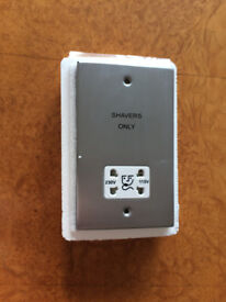 Decorative metal dual voltage shaver supply unit