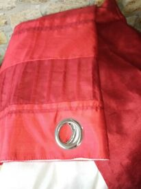 Red curtains 66x83