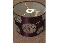 Ceiling lamp shade (purple, floral)