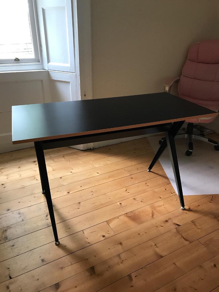 Black desk from Made . com