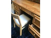 DESK solid pine with 7 drawers