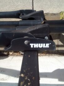 3 Thule roof mounted bike carriers and Atera roof bars