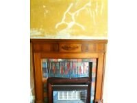 here is my oak fire surround solid oak art deco or vintage not sure