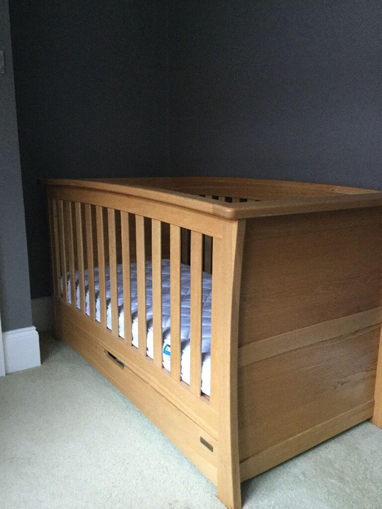 Mamas and Papas Solid Oak Ocean Cot Bed